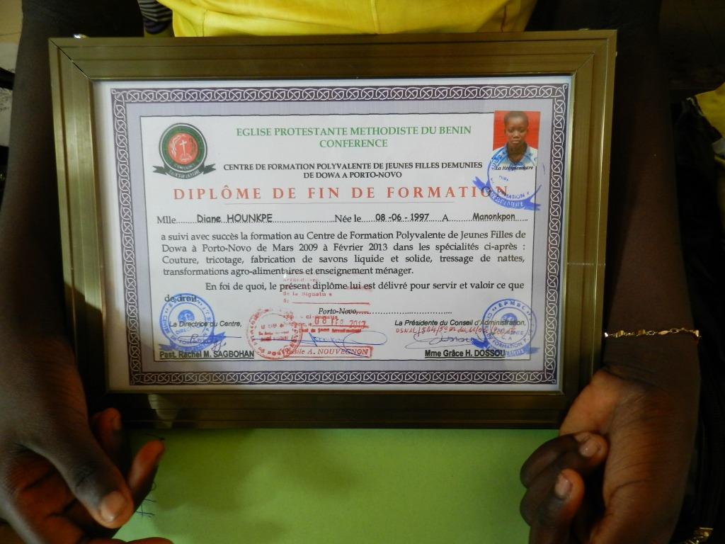 Zertifikat (Foto privat)